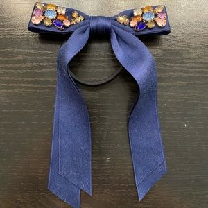 J.Crew Gemstone Bow Hair Tie